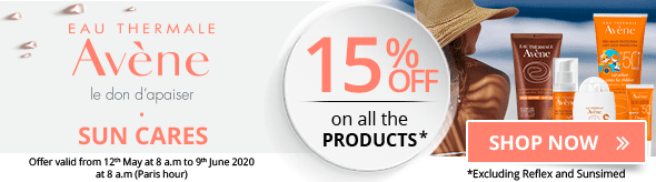 15% off on the whole Avène Sun Cares range