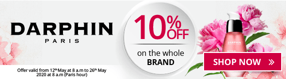 10% off on all the Darphin products