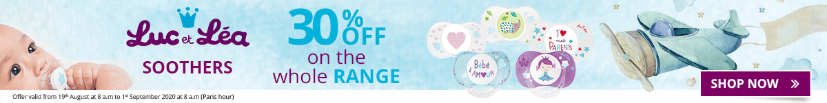30% off on the whole Luc et Léa Soothers range