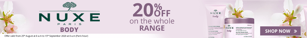 20% off on the whole Nuxe Body range