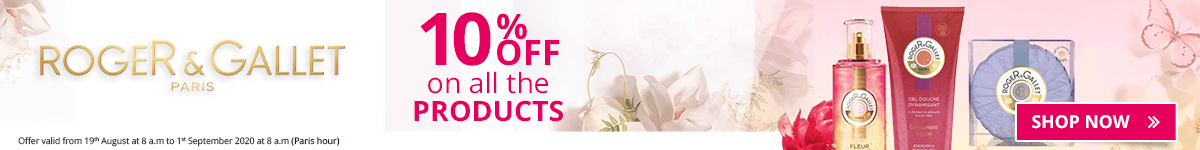 10% off on all the Roger & Gallet products