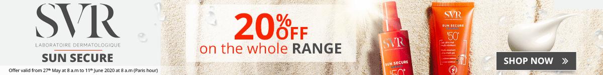20% off on the whole SVR Sun Secure range