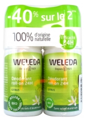 Weleda Citrus Deodorant Roll-on 24H 2 x 50ml