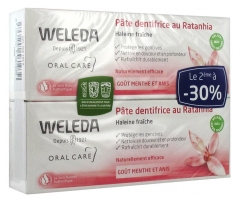 Weleda Toothpaste with Ratanhia 2x75ml