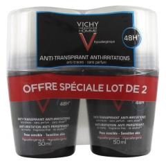 Vichy Homme Roll-on Deodorant Sensitive Skin 2 x 50ml