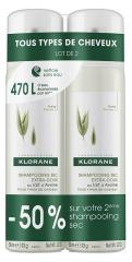 Klorane Ultra-Gentle Dry Shampoo with Oat Milk Powder Spray 2 x 150ml