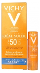 Vichy Capital Idéal Soleil Unctuous Cream SPF 50+ 50ml + Free Lips Stick