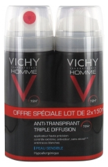 Vichy Men Triple Diffusion 72HR Antiperspirant Deodorant Spray 2 x 150ml