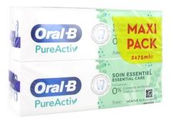 Oral-B Toothpaste PureActiv Essential Care 2 x 75ml