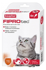 Beaphar Fiprotec 50 mg Spot-on Solution Cats 6 Pipettes of 0,50ml