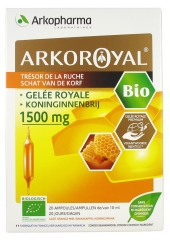 Arkopharma Arko Royal Treasure of the Hive Royal Jelly 1500mg Bio 20 Phials