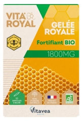 Nutrisanté Organic Royal Jelly 1800mg 10 Phials