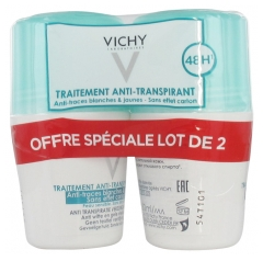 Vichy 48H Anti-Streaks Anti-Perspirant Deodorant Roll-On 2 x 50ml
