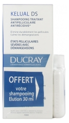 Ducray Kelual DS Squamo-Reducing Anti-Recurrence Treatment Shampoo 100 ml + Elution Rebalancing Shampoo 30 ml Offered