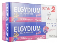 Elgydium Kids Toothpaste Gel Toothpaste Caries Protection 3/6 Years Set of 2 x 50 ml