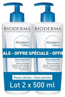 Bioderma Atoderm Ultra Nourishing Cream 2 x 500ml