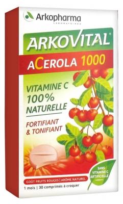 Arkopharma Arkovital Acerola 1000 30 Tablets to Crunch