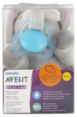 Avent Pacifier Clip + Ultra Soft Pacifier 0-6 Months