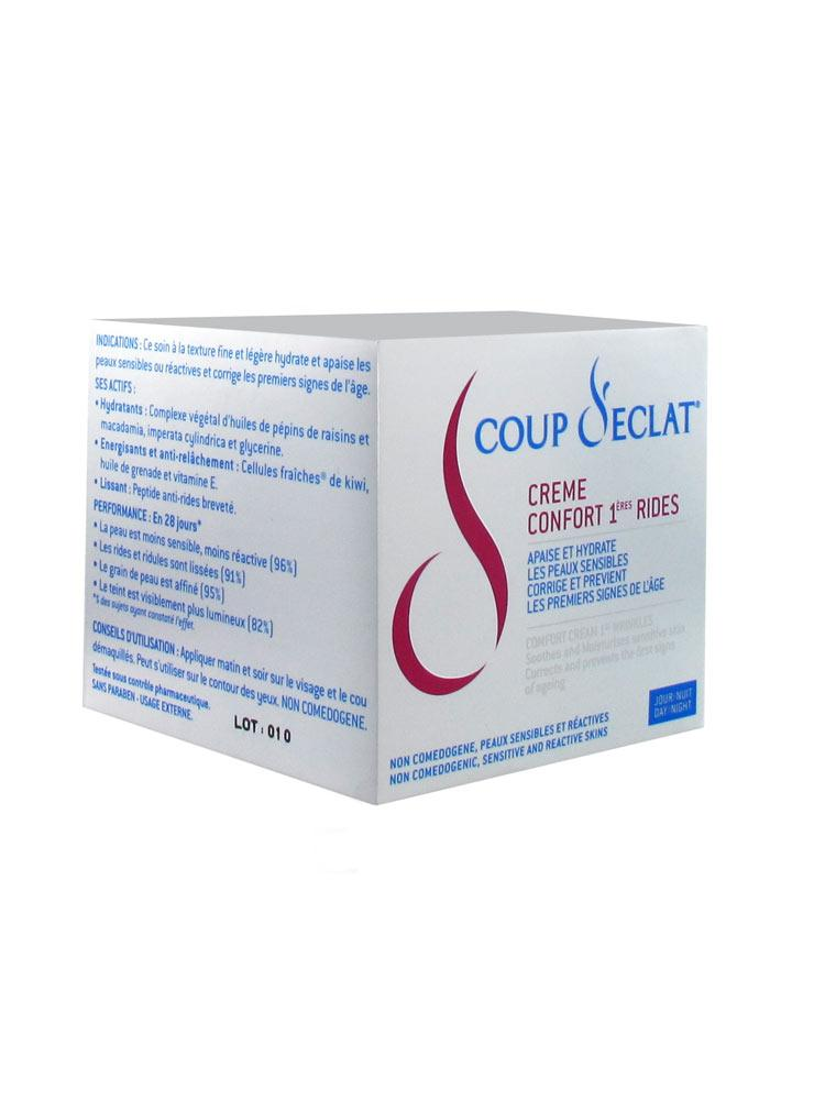 coup d 39 eclat comfort cream 1st wrinkles 50ml buy at low price here. Black Bedroom Furniture Sets. Home Design Ideas