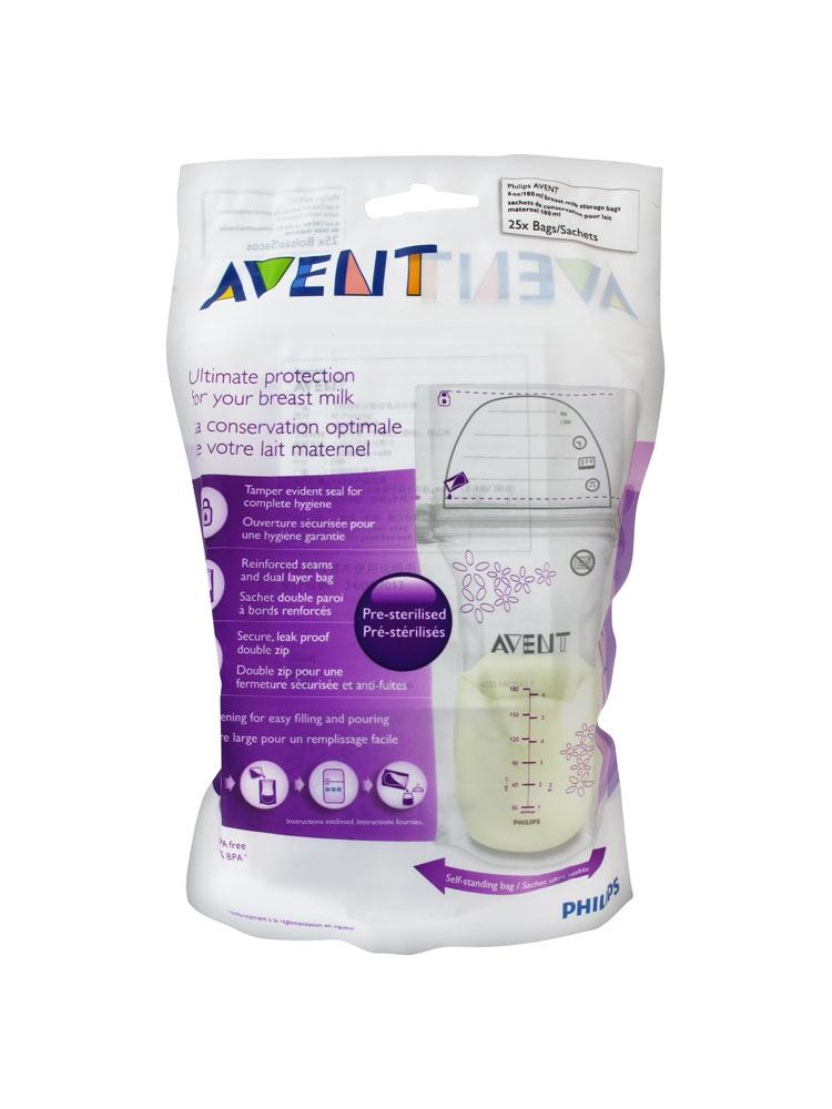 avent 25 breast milk storage bags 180ml buy at low price