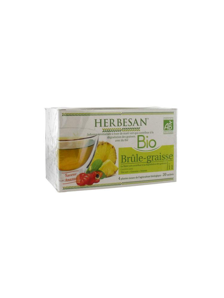 Herbesan infusion bio br le graisse 20 sachets acheter prix bas ici - Nettoyer graisse brulee four ...