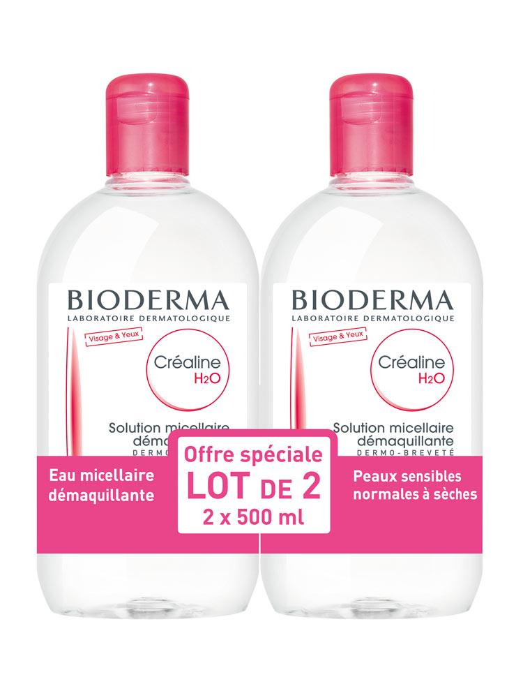 bioderma cr aline h2o micelle solution 2 x 500ml. Black Bedroom Furniture Sets. Home Design Ideas