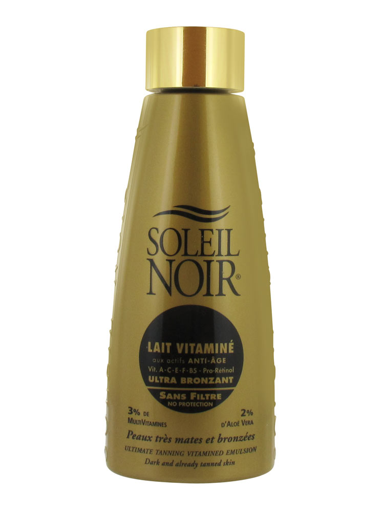 soleil noir lait vitamin ultra bronzant sans filtre 150 ml. Black Bedroom Furniture Sets. Home Design Ideas