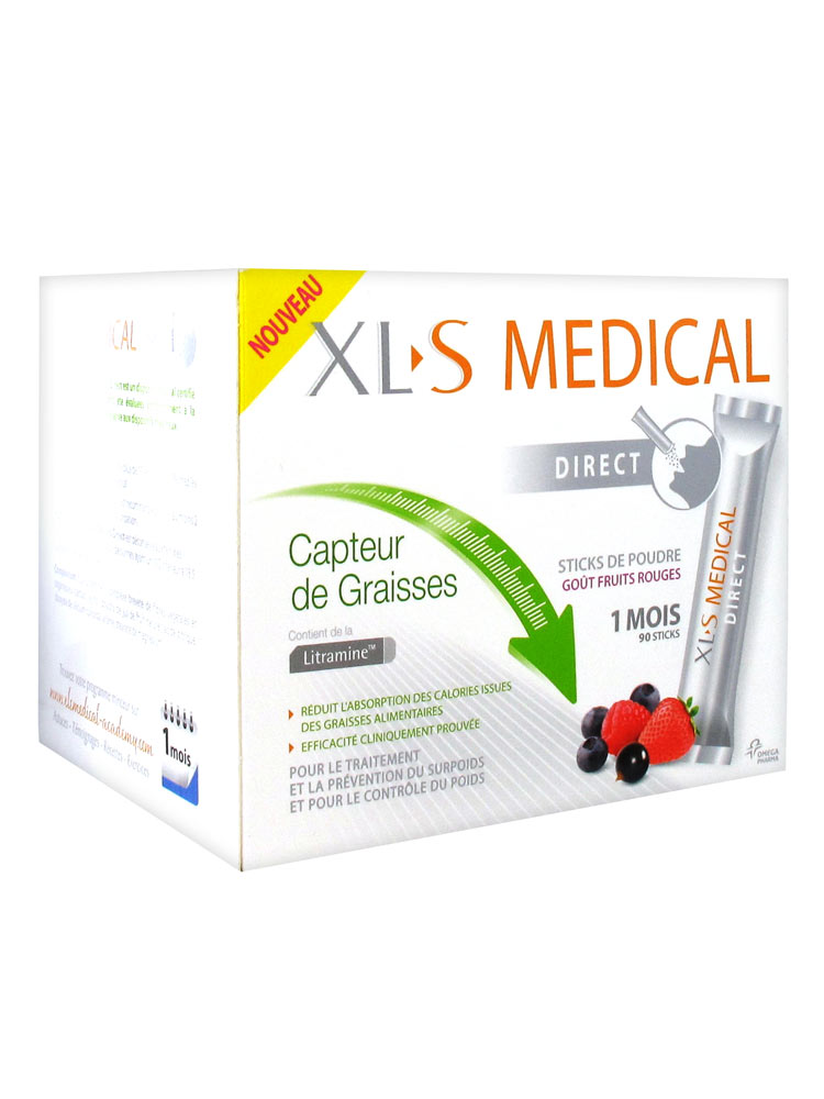 Xls medical capteur de graisses direct 90 sticks acheter - Xls medical capteur de graisse prix ...