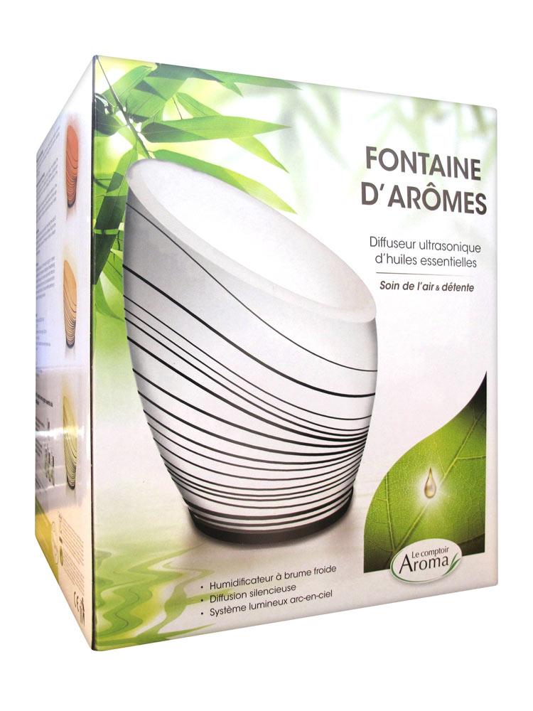 le comptoir aroma fontaine d 39 ar mes diffuseur ultrasonique d 39 huiles essentielles. Black Bedroom Furniture Sets. Home Design Ideas