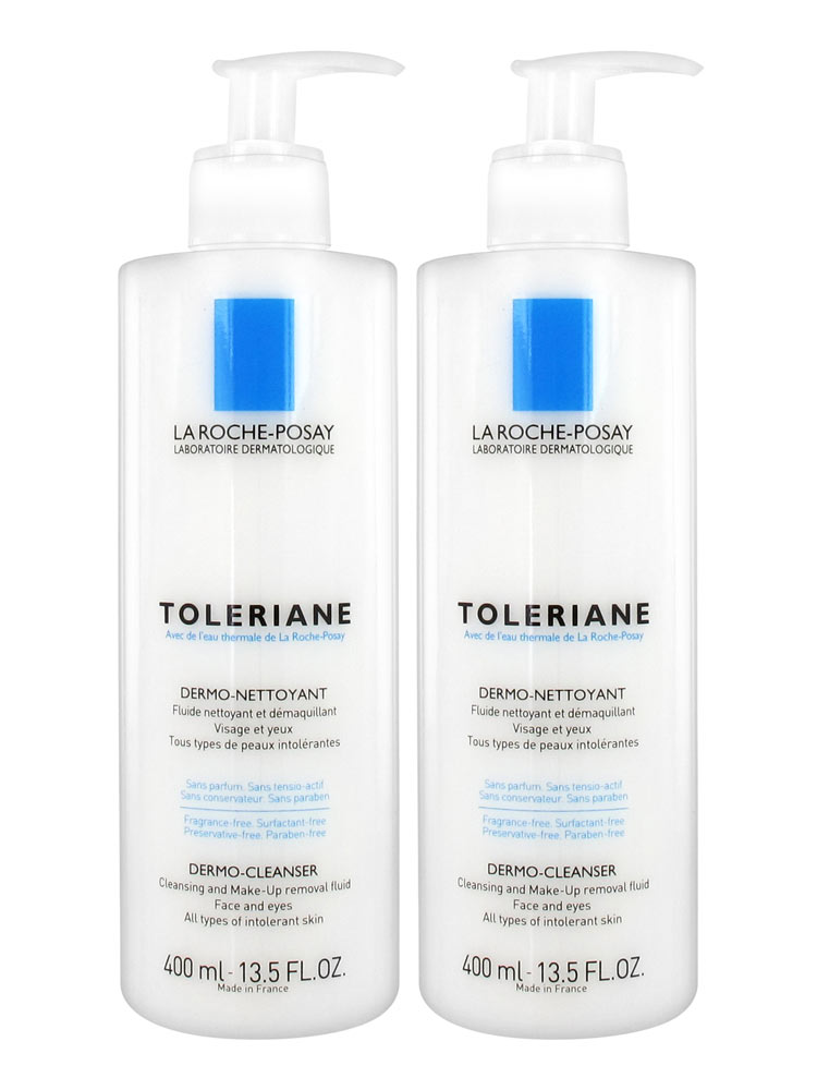 la roche posay toleriane dermo cleanser 2 x 400ml low. Black Bedroom Furniture Sets. Home Design Ideas