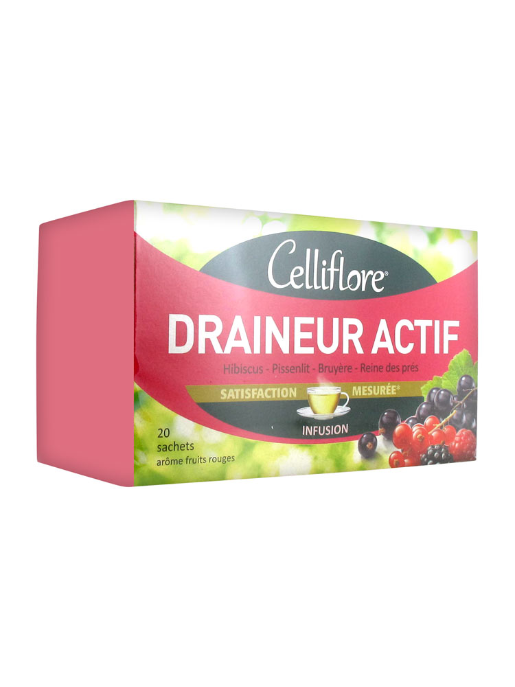 Celliflore Draineur Actif 20 Sachets - Acheter à prix bas ici