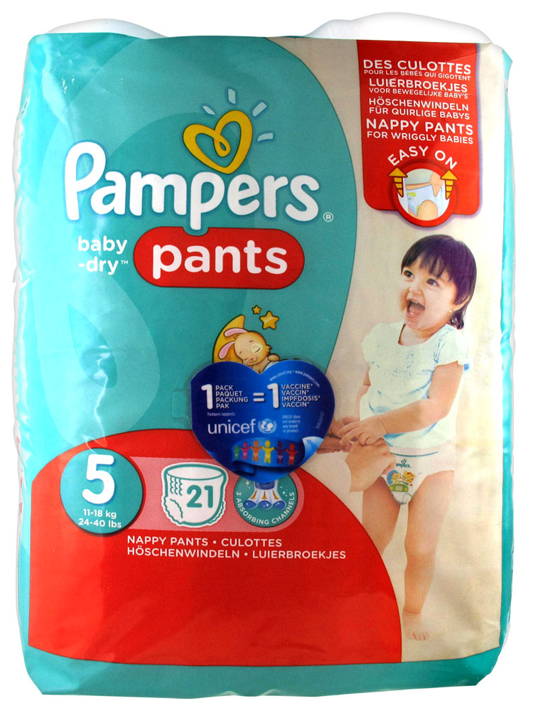 pampers baby dry 21 couches culottes taille 5 12 18kg. Black Bedroom Furniture Sets. Home Design Ideas