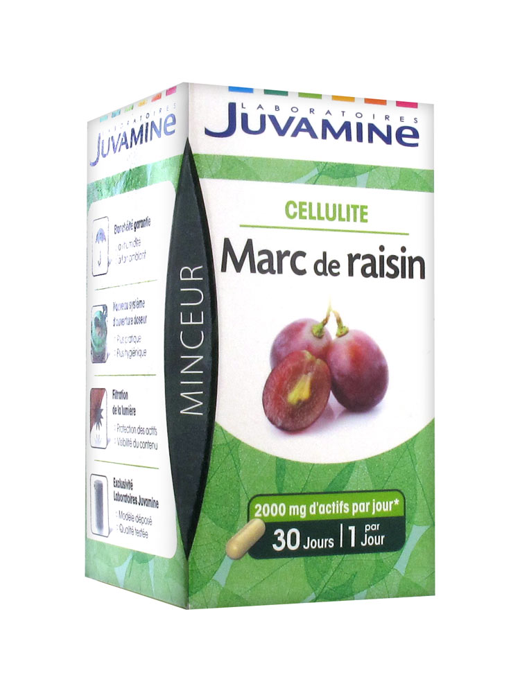 juvamine cellulite marc de raisin 30 g lules acheter prix bas ici. Black Bedroom Furniture Sets. Home Design Ideas