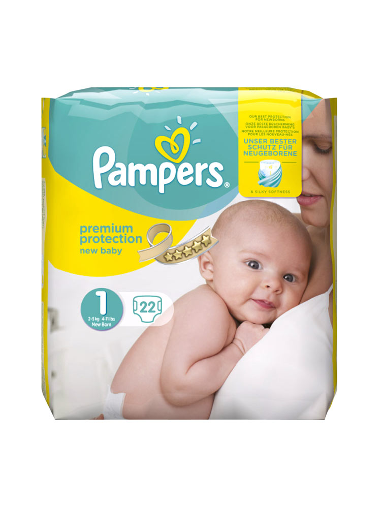 pampers new baby 22 nappies size 1 2 5kg buy at low. Black Bedroom Furniture Sets. Home Design Ideas