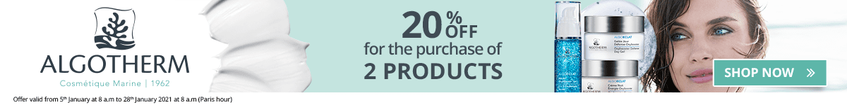 2 Algotherm products purchased = 20% off