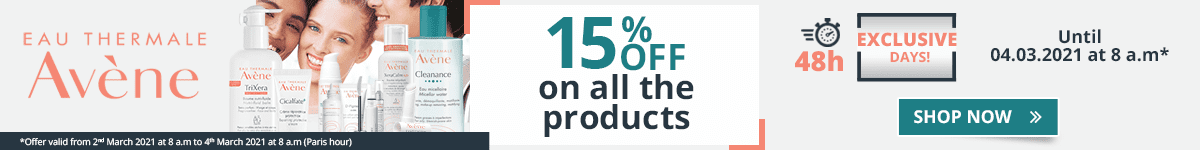 15% off on all the Avène products