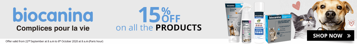 15% off on all the Biocanina products