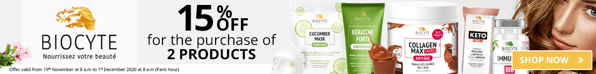 2 Biocyte products purchased = 15% off