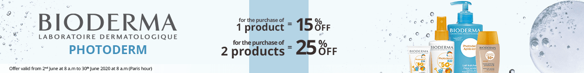 1 Bioderma Phytoderm product purchased = 15% off. 2 Bioderma Phytoderm products purchased = 25% off