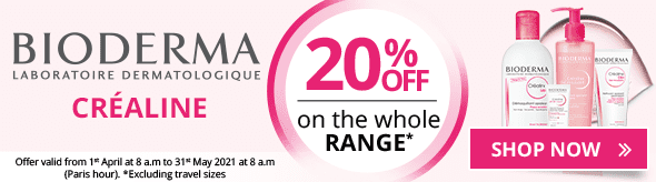 20% off on the whole Bioderma Créaline range (Excluding travel size)
