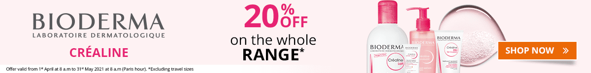 20% off on the whole Bioderma Créaline range