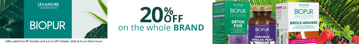 20% off on all the Biopur products