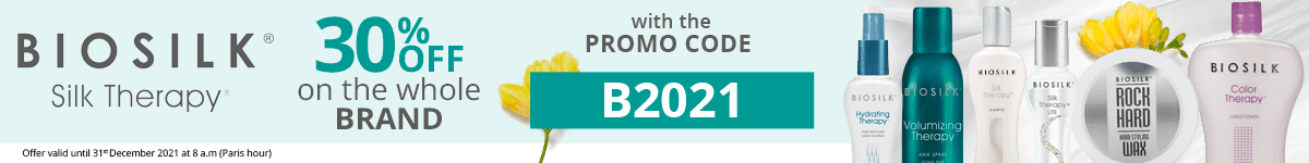 30% off on all the Biosilk products with the promo code: B2021