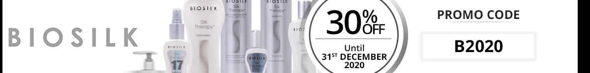 30% off on all the Biosilk products with the promo code: B2020