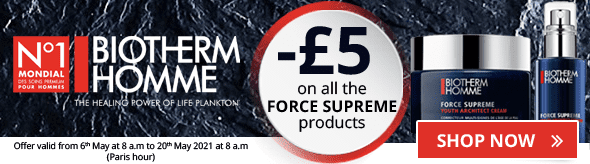 -£5 on the whole Biotherm Homme Force Suprême range