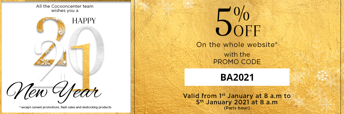 Promo Code BA2021: 5% discount on the whole website (except current offers, flash sales and destocking)