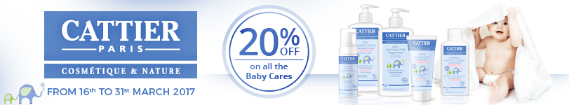 20% off on the whole Baby Care range