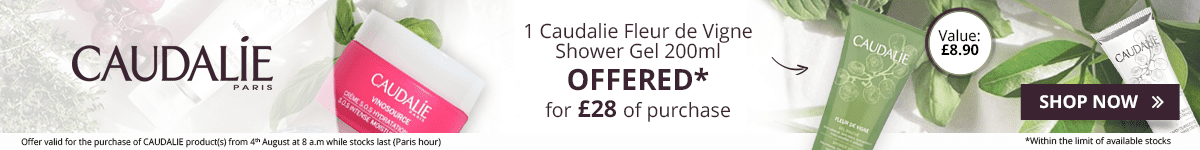 For the purchase of £28 in the Melvita brand = 1 FREE Caudalie Fleur de Vigne Shower Gel 200ml