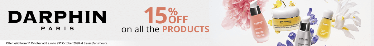 15% off on all the Darphin products