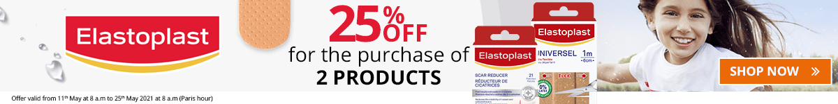 2 Elastoplast products purchased = 25% off